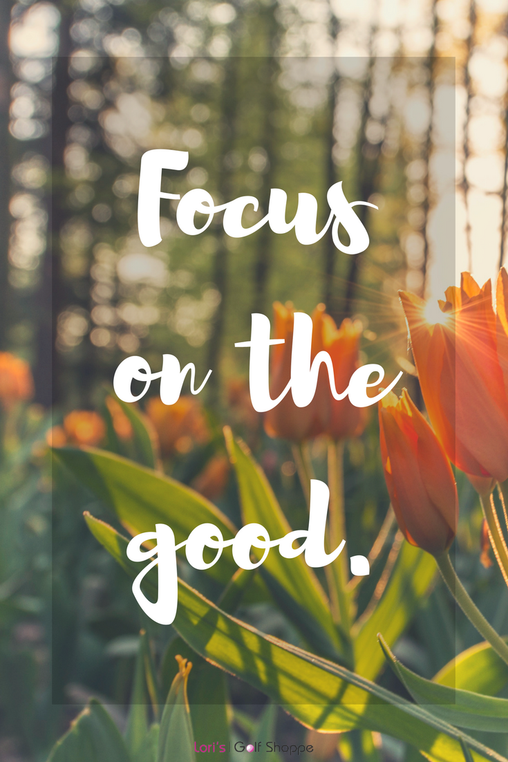 Always dwell on the positive! Find more positive