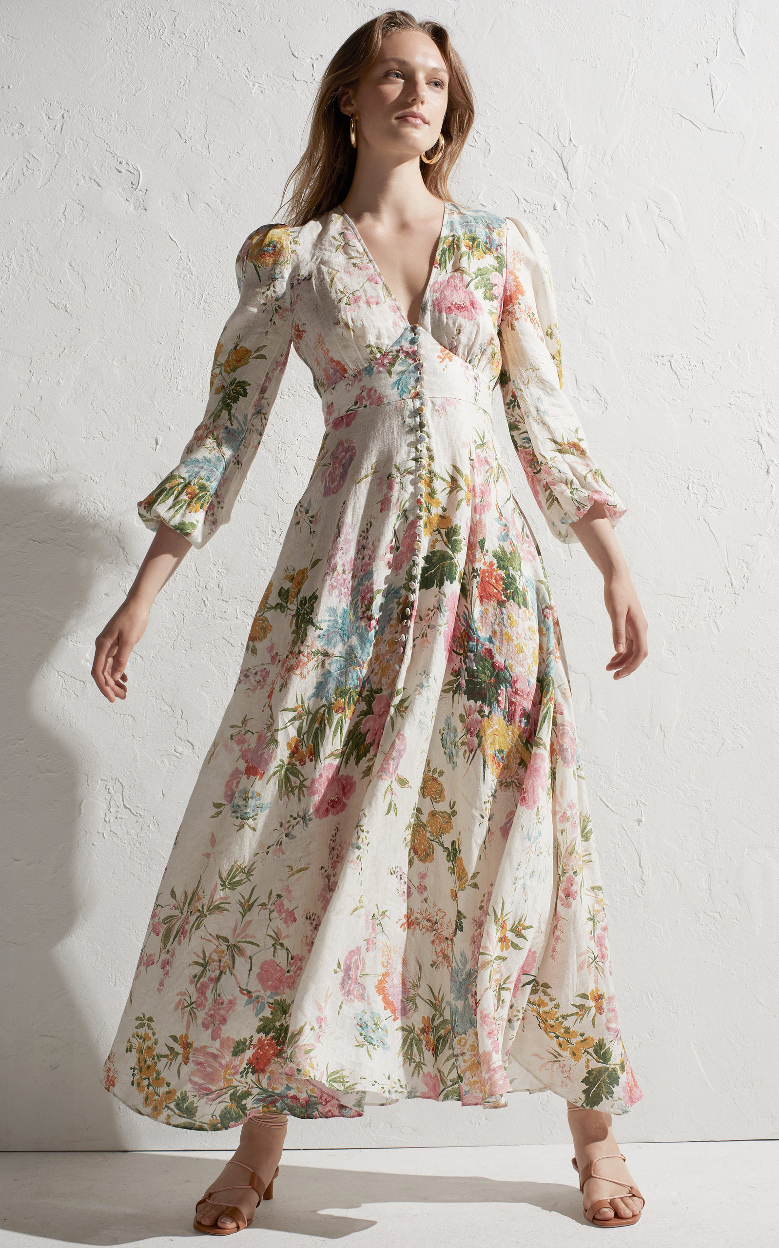 d6f5badbb43 Heathers Floral Linen Maxi Dress by ZIMMERMANN Now Available on Moda  Operandi