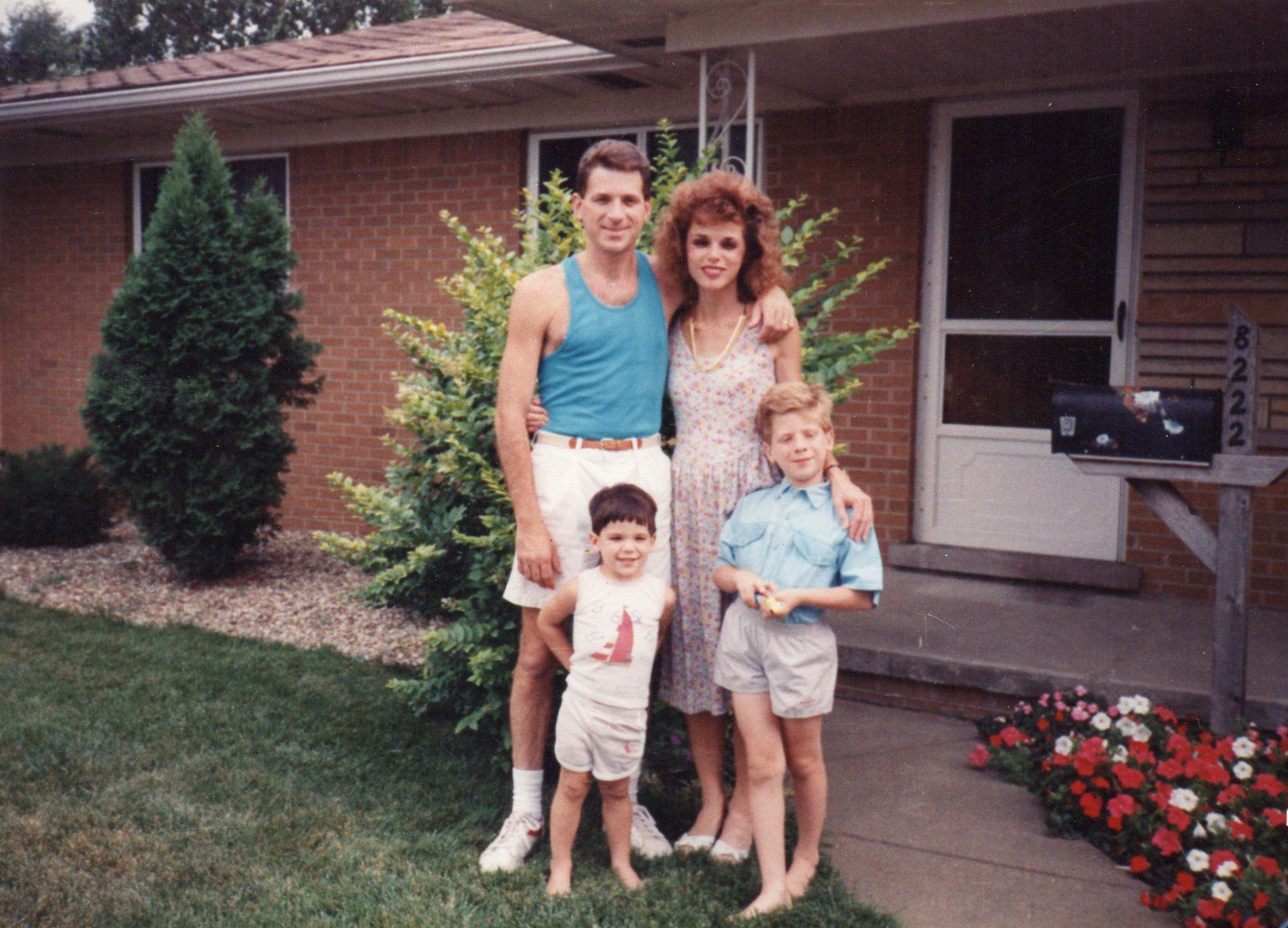Jeff, Monica, Eric and Chad- Utica, MI- 1988