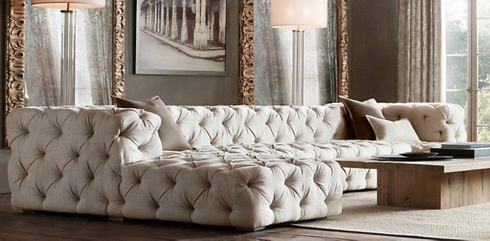 Soho Tufted Restoration Hardware This looks so cool and I dont