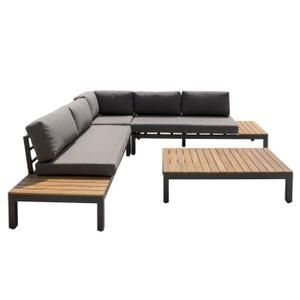 SALON DE JARDIN Salon de jardin - 1 table avec 1 canapé modulable ...