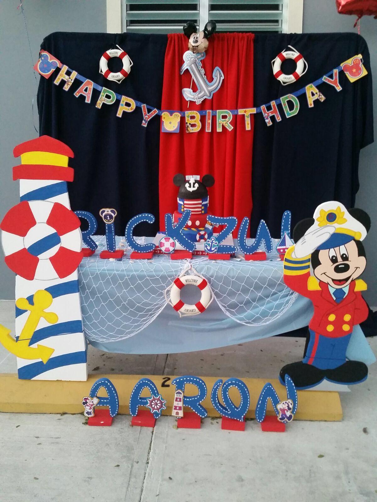 Mickey sailor birthday mickey y minnie pinterest - Decoracion estilo marinero ...