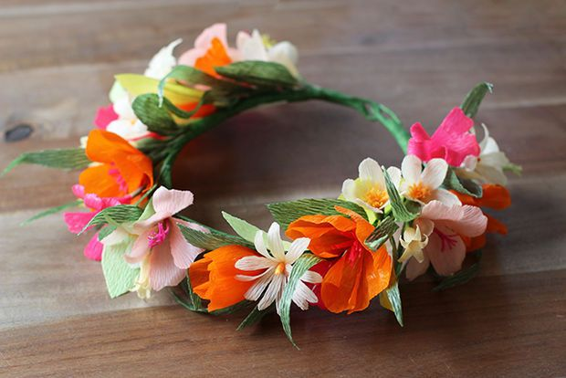 Wear this paper flower crown for Cinco de Mayo! | Opaska do włosów ... | 414x620