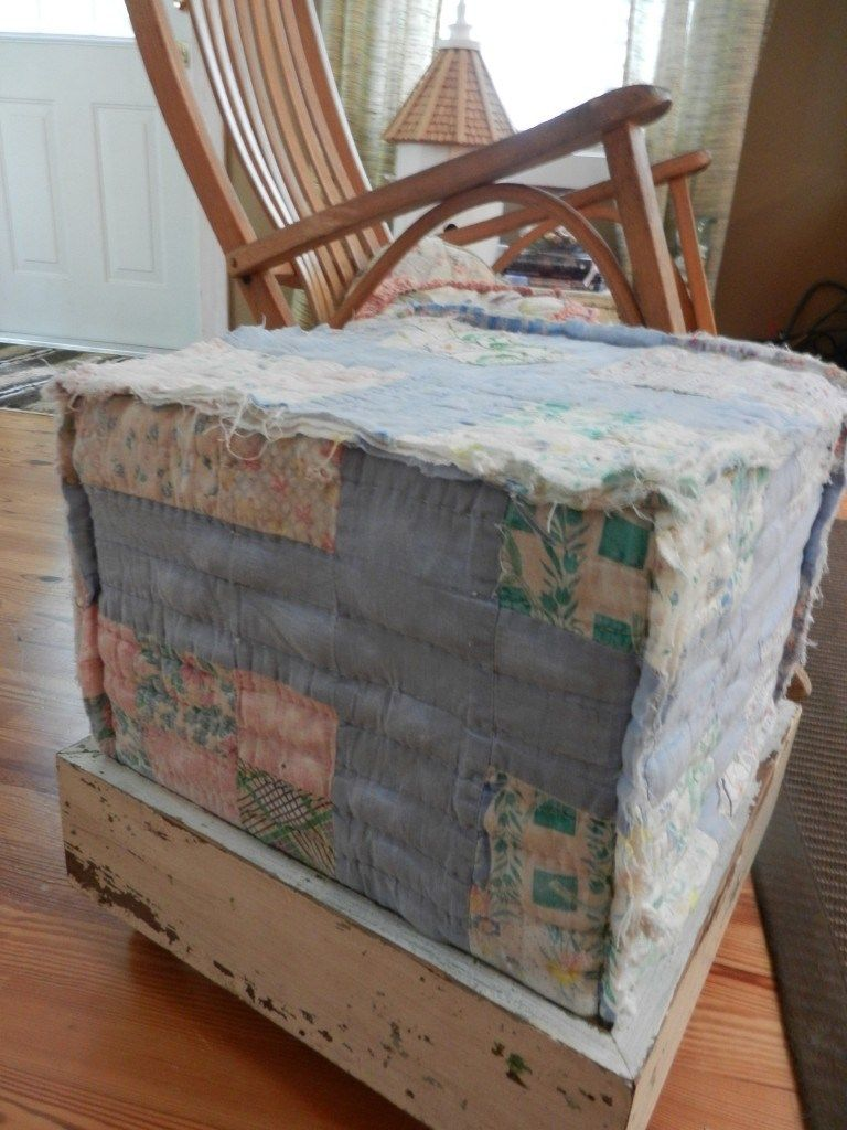 quilt cube in room