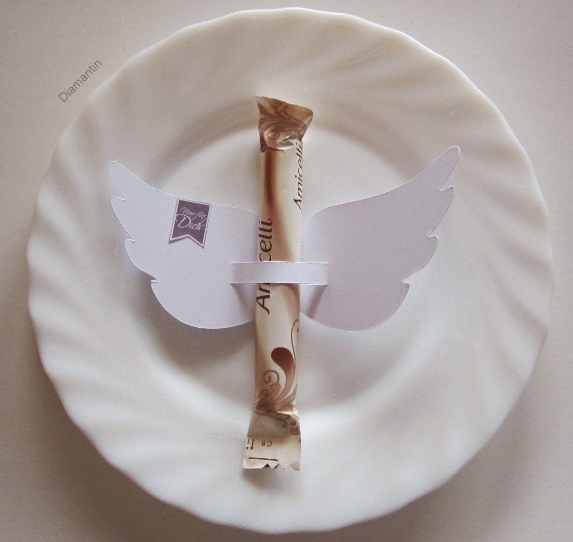 Geflügelte Amicelli-Tischdeko