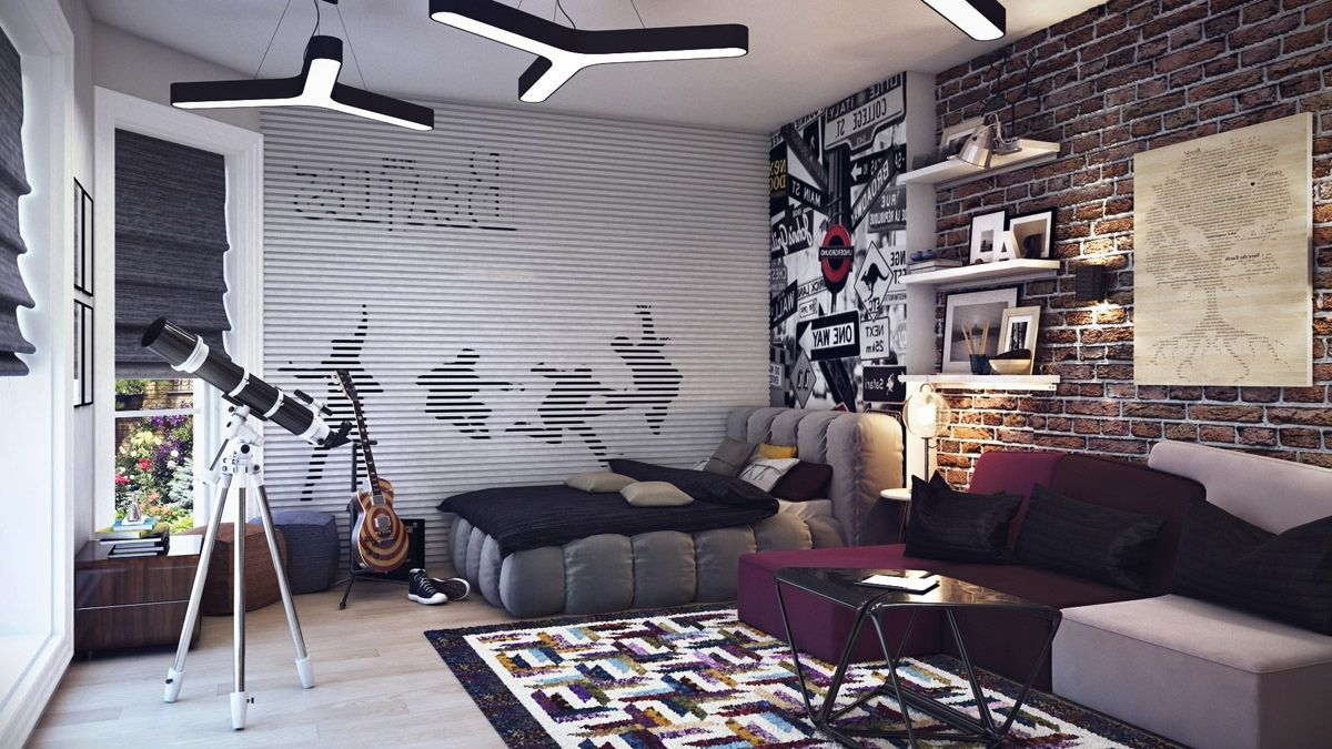 Bedroom Some Greet Ideas Of Filling Teen Boys Bedroom Cool And - Teenage boys wallpaper designs