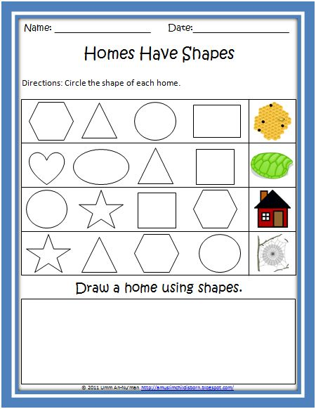 Shapes In The Environment Worksheet Shapes Worksheets Worksheets Printable Worksheets Worksheet shapes grade 2