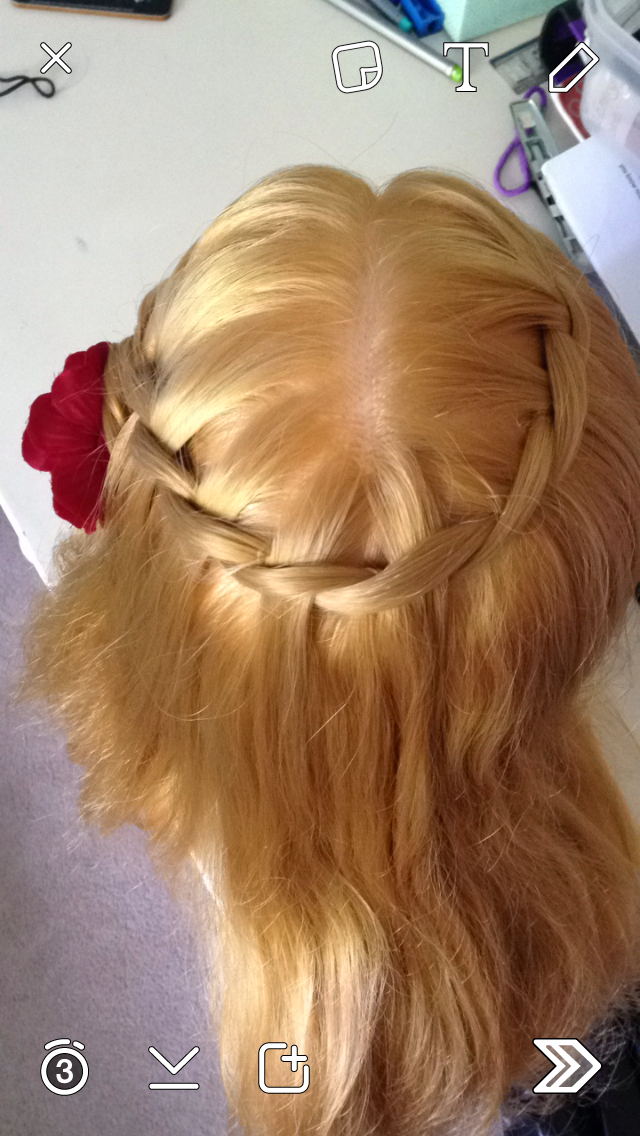 Waterfall Crown (I did this one myself!)