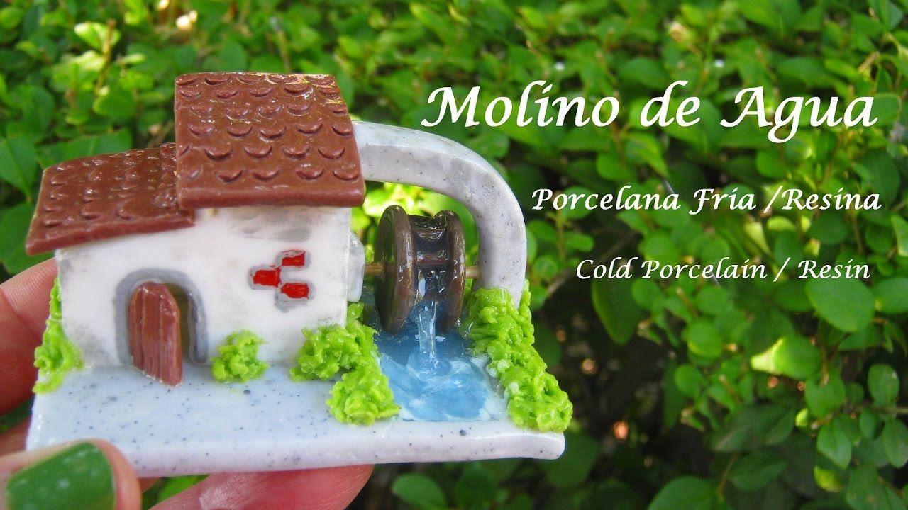 Molino de agua en Porcelana Fria / Resina - Cold Porcelain / Resin