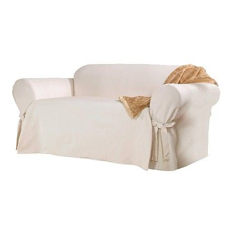 Sure Fit Cotton Duck Sofa Slipcover Target
