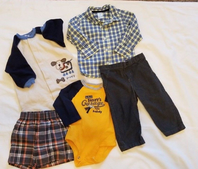 Infant Baby Clothes Boy Size 9 Months Carters Lot Of 5 Boys C