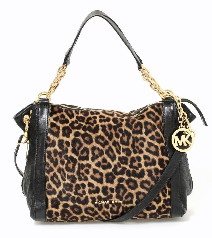 Mk handbags �� Michael Michael Kors Black Leather \u0026 Tan Leopard Print  Ponyhair Convertible Bag #MichaelMichaelKors #ConvertibleBag