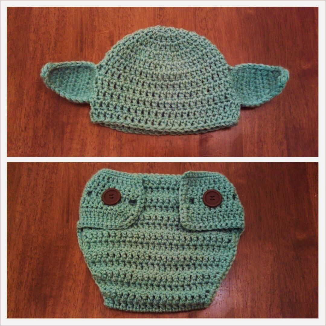 I found a pattern online for a Yoda beanie and HAD to make it for my ...