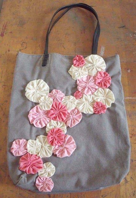 Yo Yo Flower Bag Bolsos Patchwork Bolsos De Tela Y