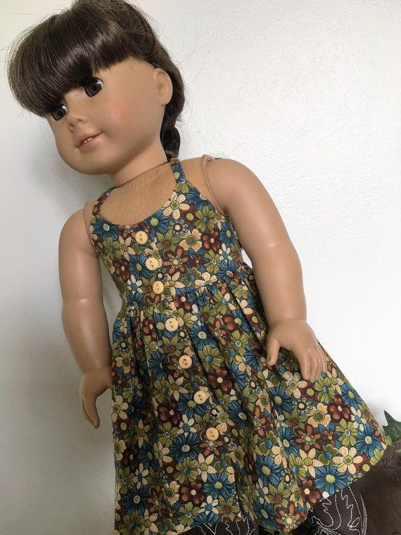 Flowery sundress fits American girl dolls by Bekysdollclothes