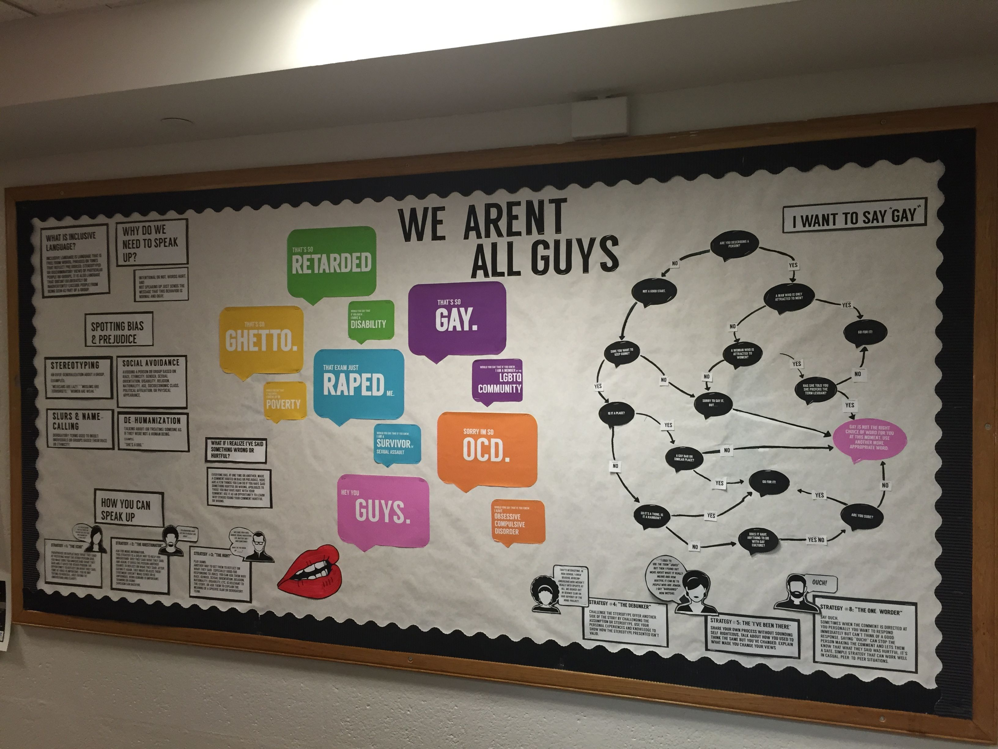 Ra Bulletin Board On Social Justice And Inclusive Language