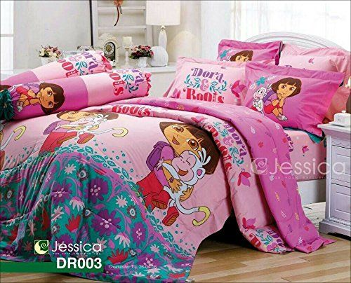 Dora The Explorer Official Licensed Bedding Set Bed Sheet Pillow Case Bolster Not Included Comforter Dr003 B Size 60x78 Queen Check Out This