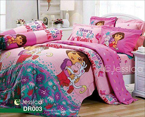Dora The Explorer Official Licensed Bedding Set Bed Sheet Pillow Case  Bolster Case Not Included Comforter