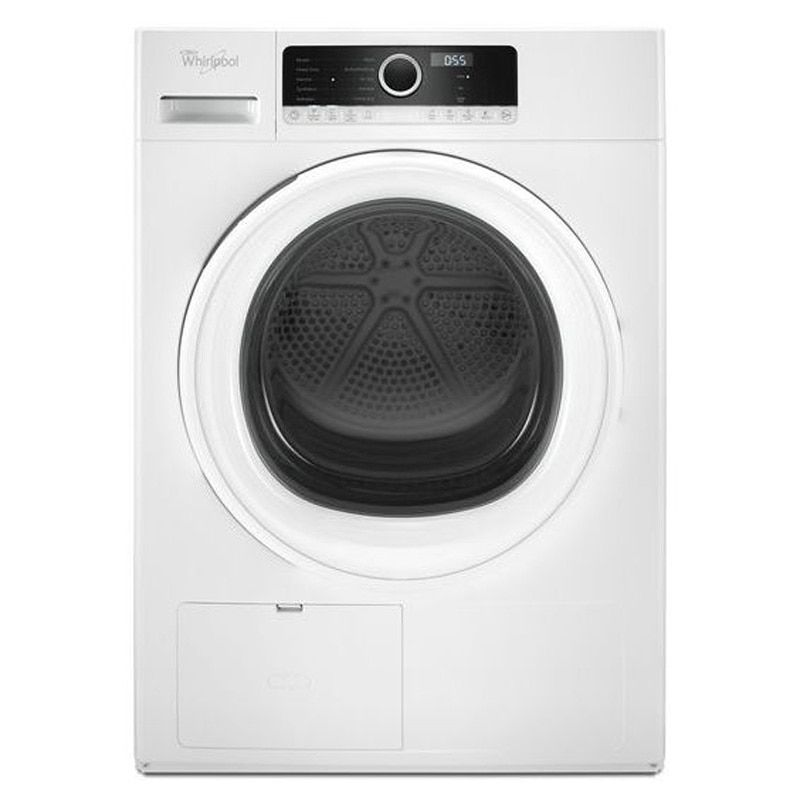 Whirlpool 24 4 3 Cu Ft Compact Ventless Heat Pump Electric Dryer White Electric Dryers Compact Dryer Small Washer And Dryer