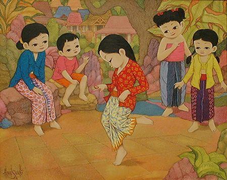 From Wikiwand Ilustrasi Permainan Tradisional Engklek Dalam