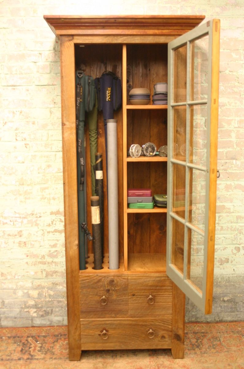 Superieur This Uniquely Designed Rustic Fly Rod Cabinet Is A Wonderful Accent Piece  For Any Room In The Home For Storage Of Fly Rods, Reels And Miscellaneous  Fishing ...