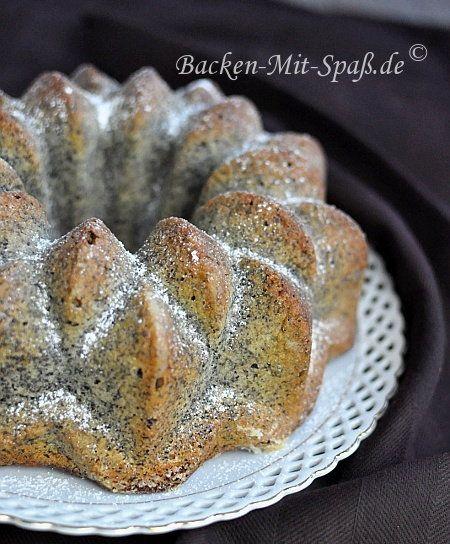 Mohn-Kokos- Gugelhupf Kuchen-Rezepte Pinterest