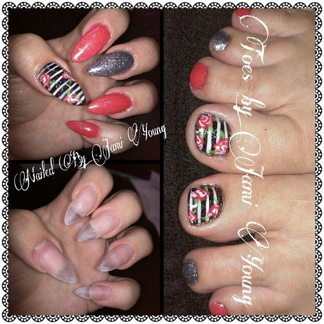 Vintage inspired Nails and toes using Young Nails products in ...