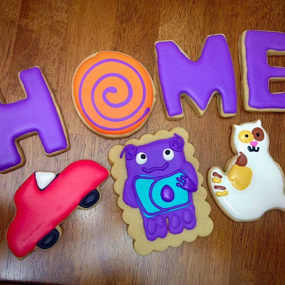 Home Movie Cookies, Boov, Dreamworks Party