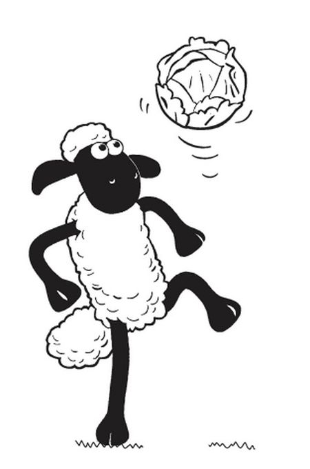صورة خروف شن ذا شيب للتلوين Shaun Le Mouton Decoration Anniversaire Mouton