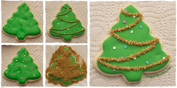 Decorated Christmas Cookies Christmas Trees Special Occasion And