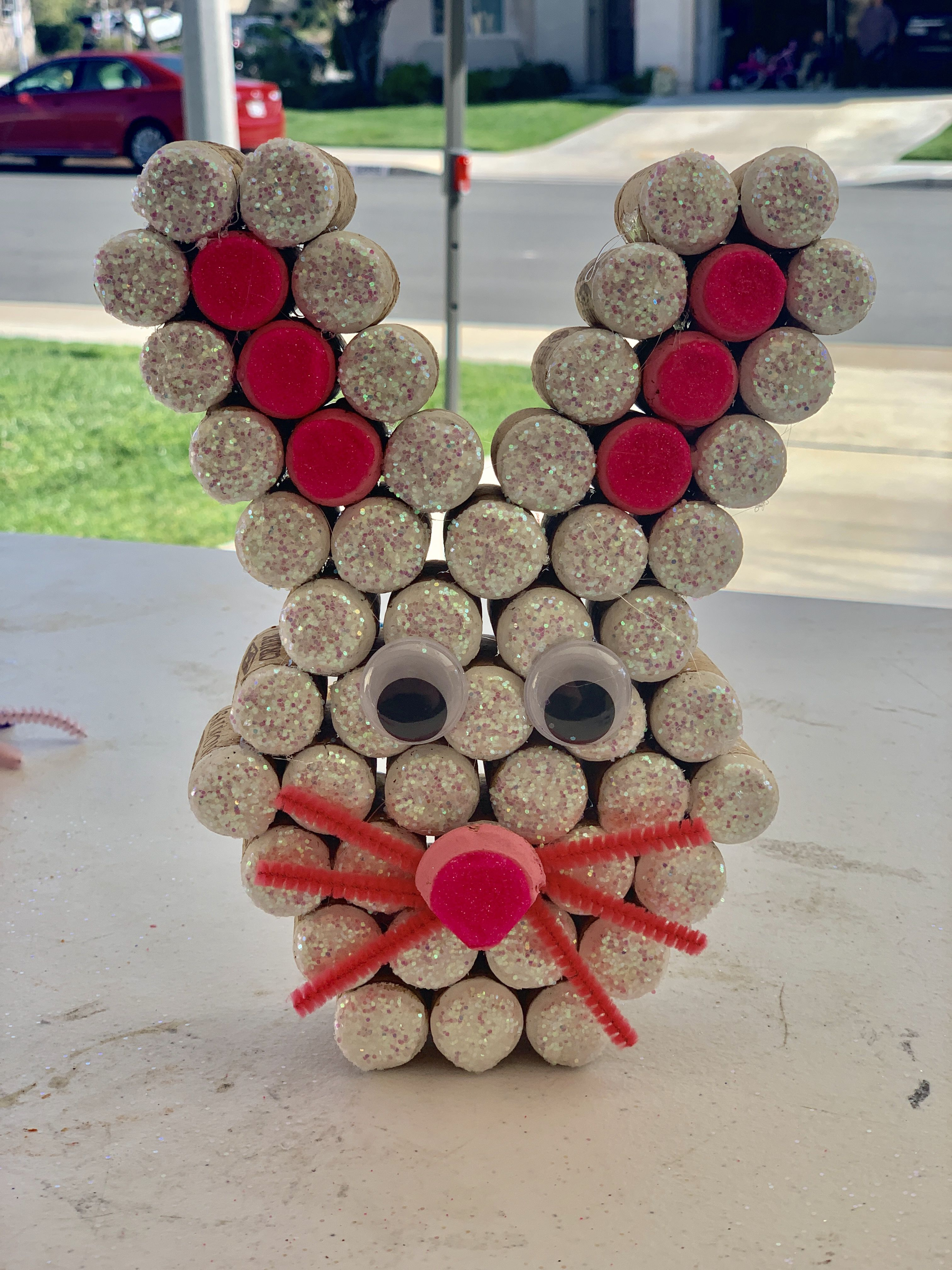 Easter Bunny Made Of Wine Corks Wine Cork Crafts Wine Cork Art Wine Cork Projects