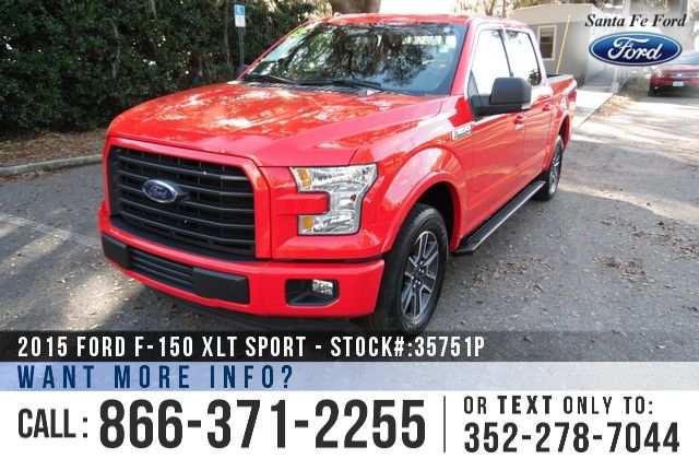 2015 Ford F150 XLT Sport - V8 5.0 L Engine - Keypad Door Lock - Remote Keyless Entry - Alloy Wheels - Tinted Windows - Fog Lights - Running Boards - Hitch Receiver - Bed Liner - Safety Airbags - Powered Windows/Locks/Mirrors/Driver Seat - Seats 5 - AM/FM/CD/SIRIUS Satellite - iPod/Aux/USB Ports - Bluetooth - SYNC by Microsoft - Cruise Control - Digital Compass - Outside Temperature Display - Backup Camera and more!