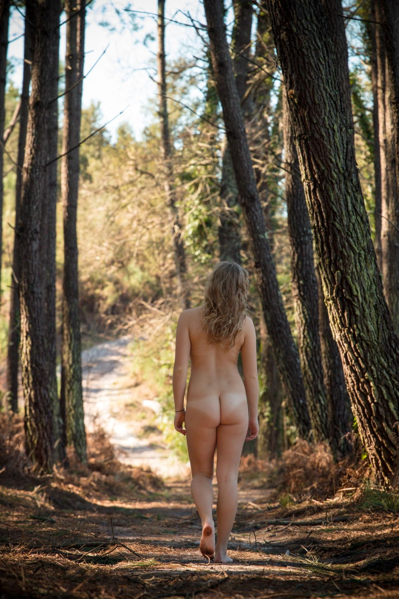 Nude Hiking And Camping Photo