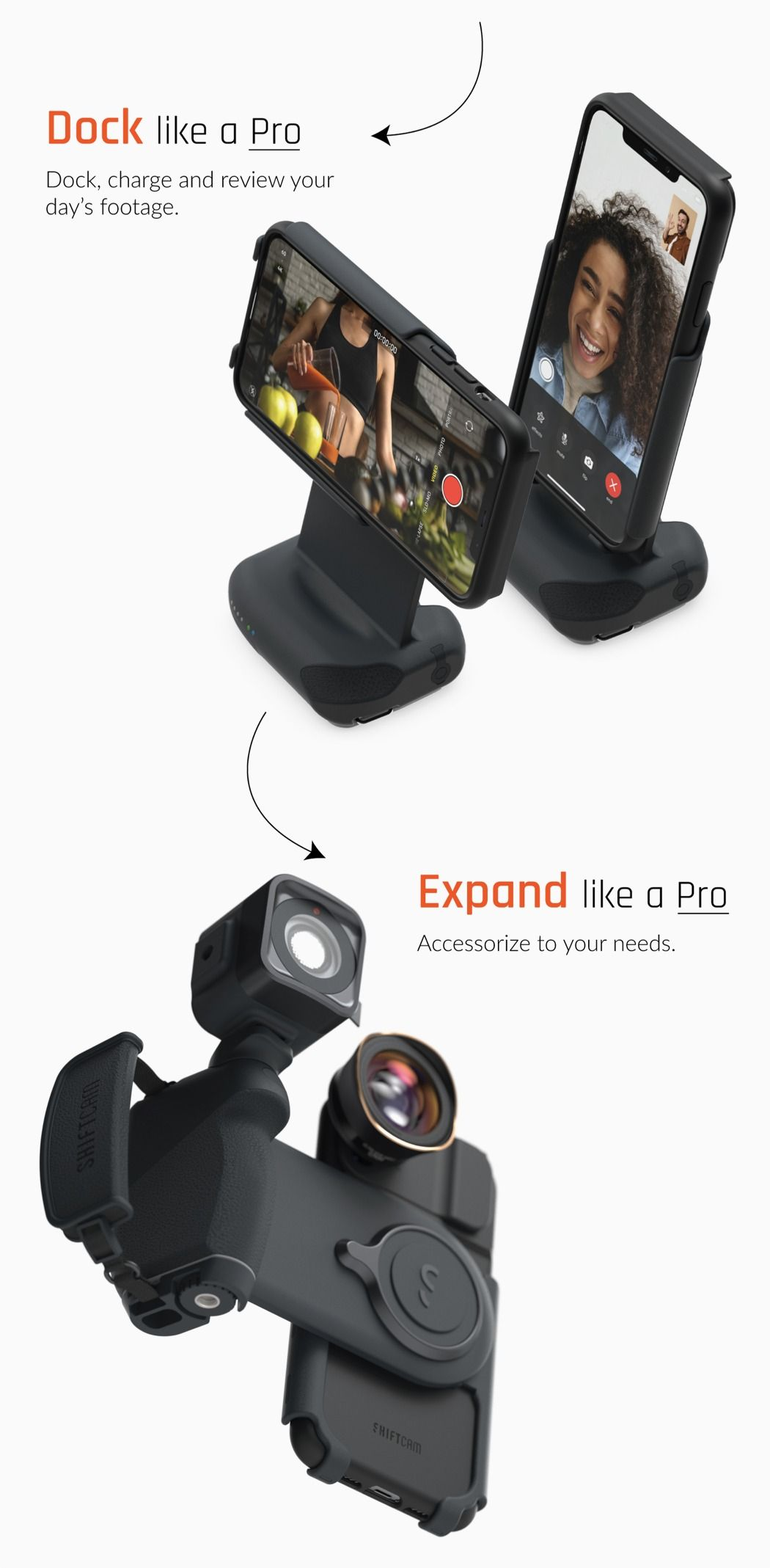 The ShiftCam ProGrip Turns Any Smartphone Into A Full