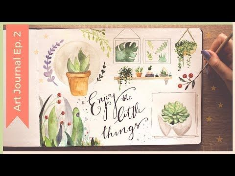 3 Easy Watercolor Plants Watercolor Sketchbook Painting Ideas