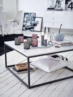 Couchtisch, quadratisch, modern, Marmor, Metall | Couchtische ...