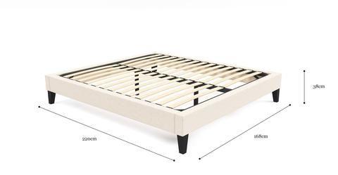 Queen Size Upholstered Slimline Bed Frame Base Homewares Online