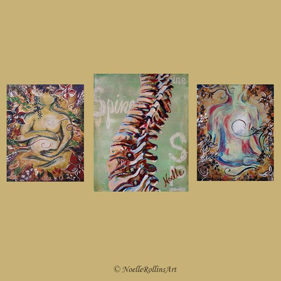 Chiropractic artwork trio wall art set of 3 prints for office wall ...