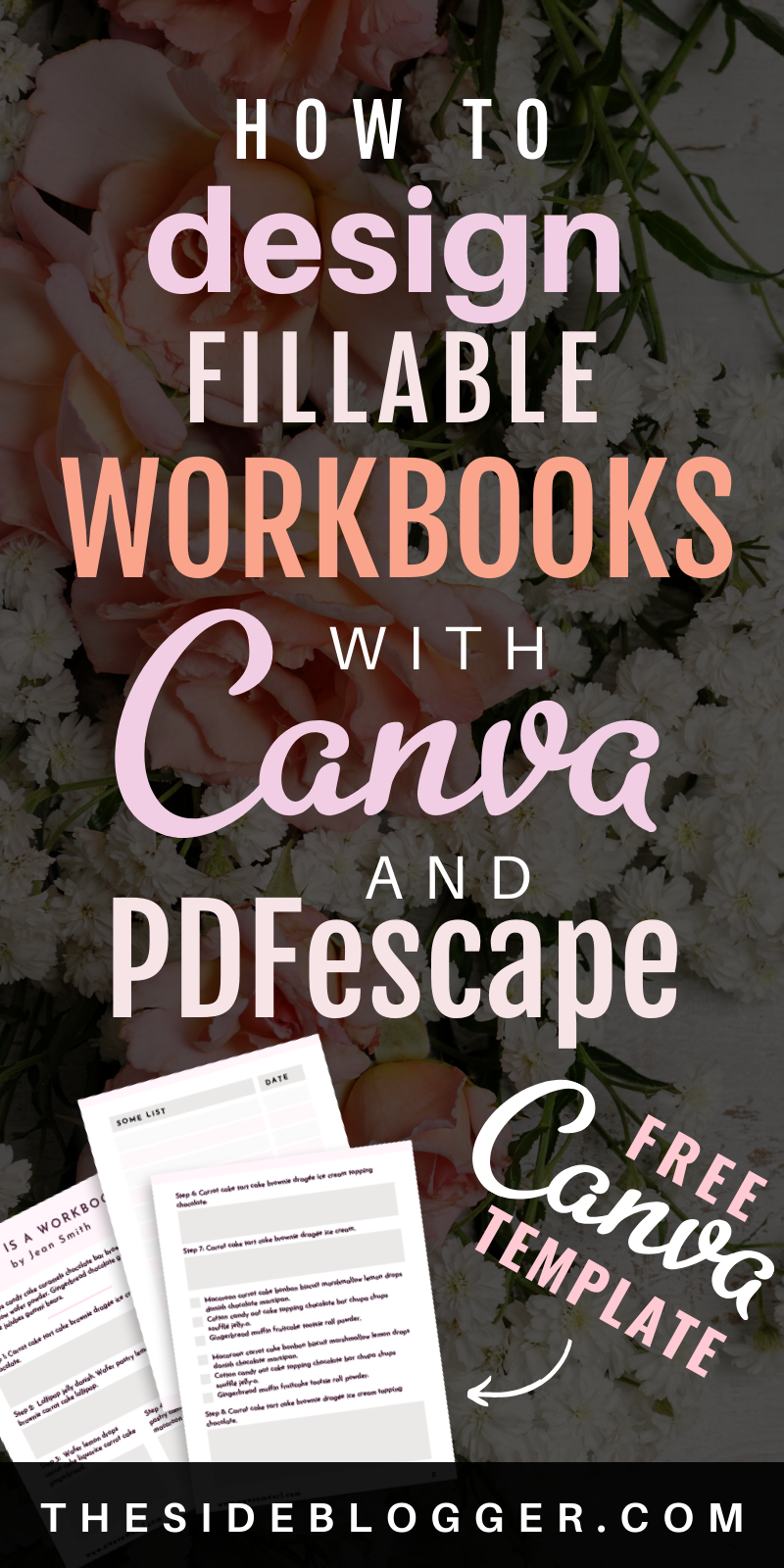How to Design Fillable PDF Workbooks with Canva and PDFescape - #canva #design #fillable #pdfescape #workbooks - #DesignTips