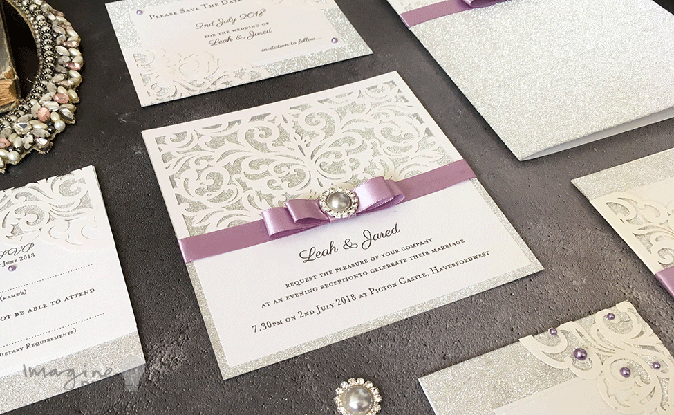 DIY wedding stationery. Silver glitter. How to make your own wedding ...