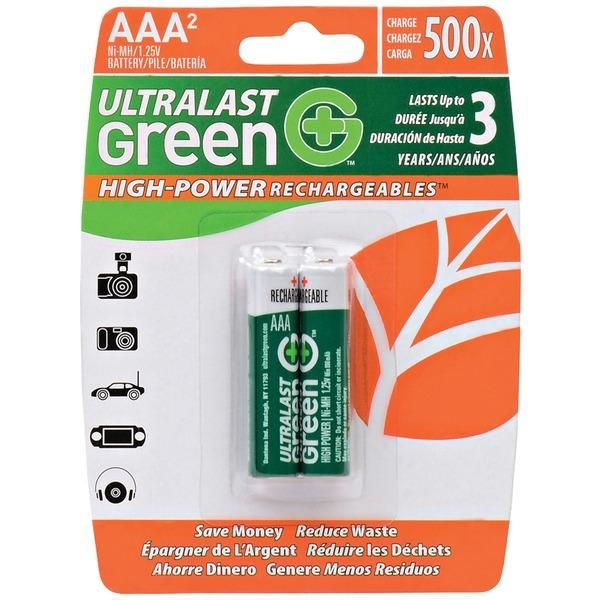 Ultralast R Green High Power Rechargeables Aaa Nimh Batteries 2 Pk Cool Things To Buy