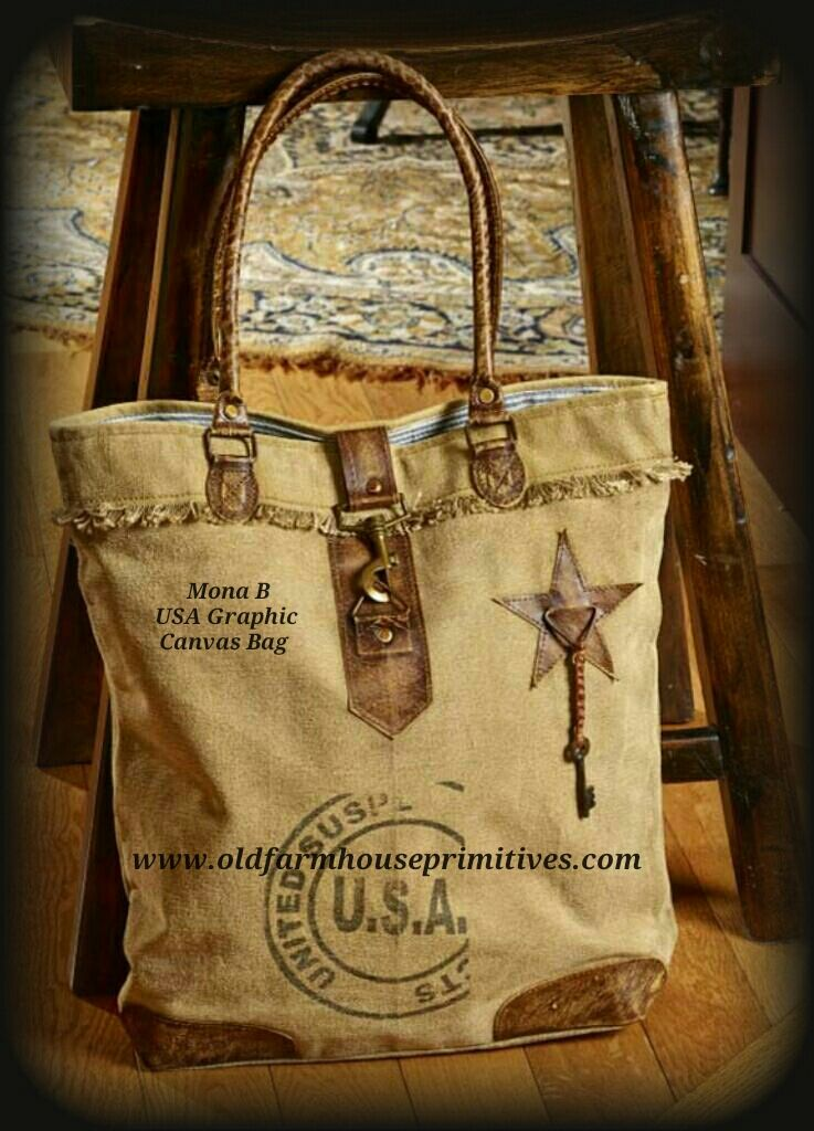 Quot Mona B Quot Recycled Canvas Bag U S A Graphic Back In Stock