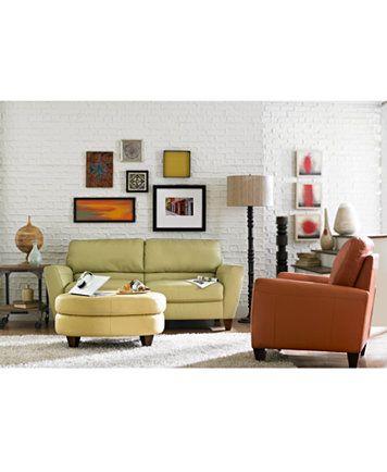 Almafi Leather Sofa Living Room Furniture Collection Macys Com Leather Chair Living Room Leather Sofa Living Room Living Room Sets Furniture