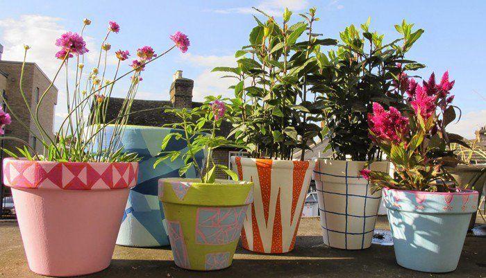 Blumentopf Bemalen Balkon Und Garten Kreativ Gestalten 30 Deko