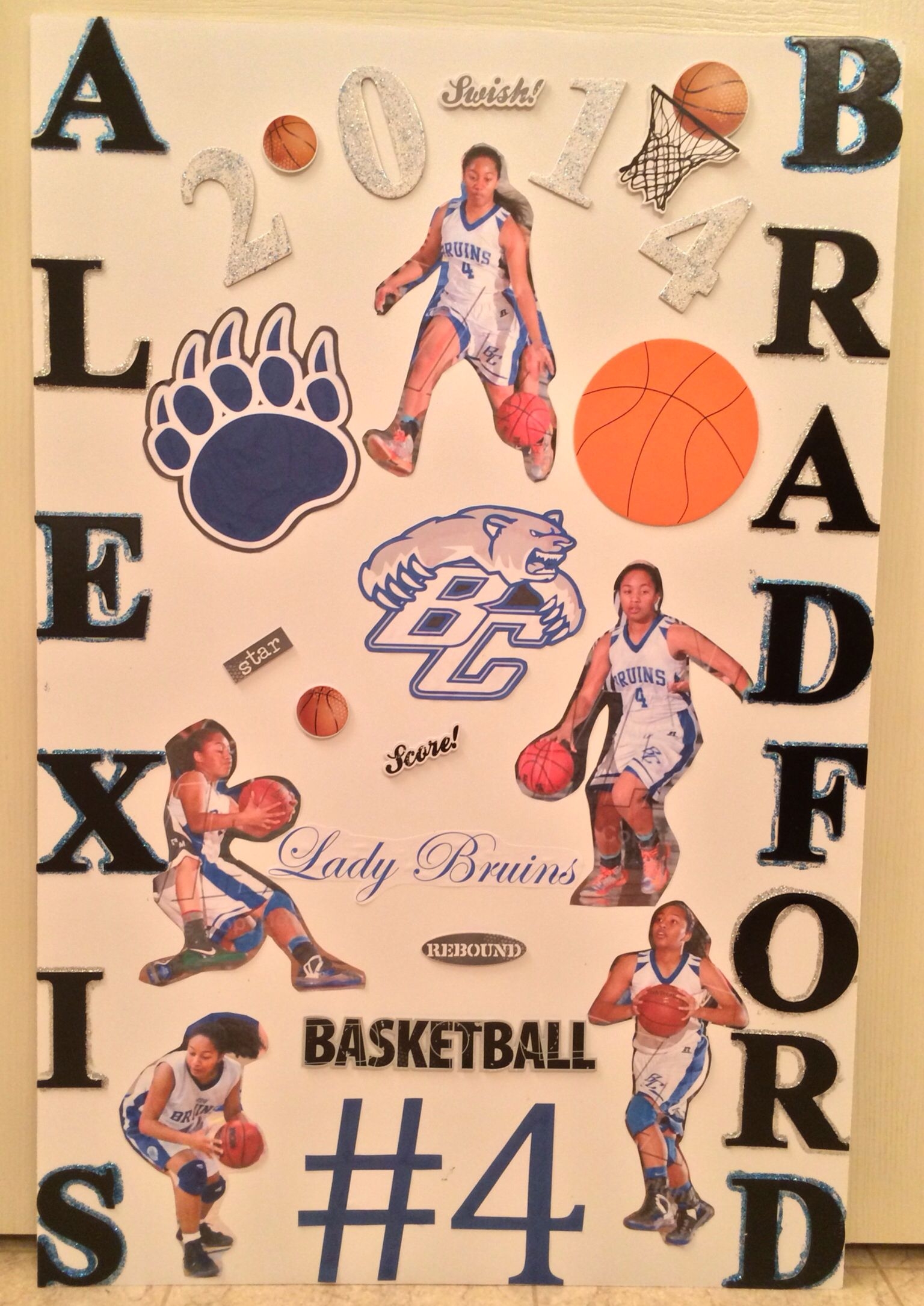 cute basketball poster for teams craft ideas senior night poster basketball bruins lady bruins bear creek high school