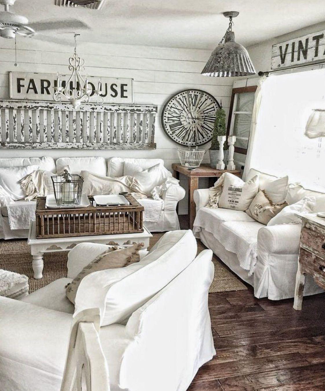 50 Luxury Modern Farmhouse Decoration Ideas Homyhomee Farmhouse Style Living Room Farm House Living Room French Country Living Room