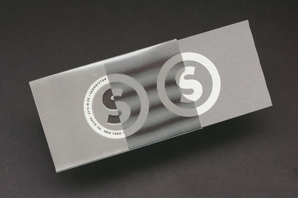 Sagmeister Business Card #grafica #optical #bdv