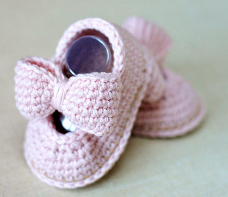Baby Bow Shoes Crochet Pattern By Matildas Meadow Bebek