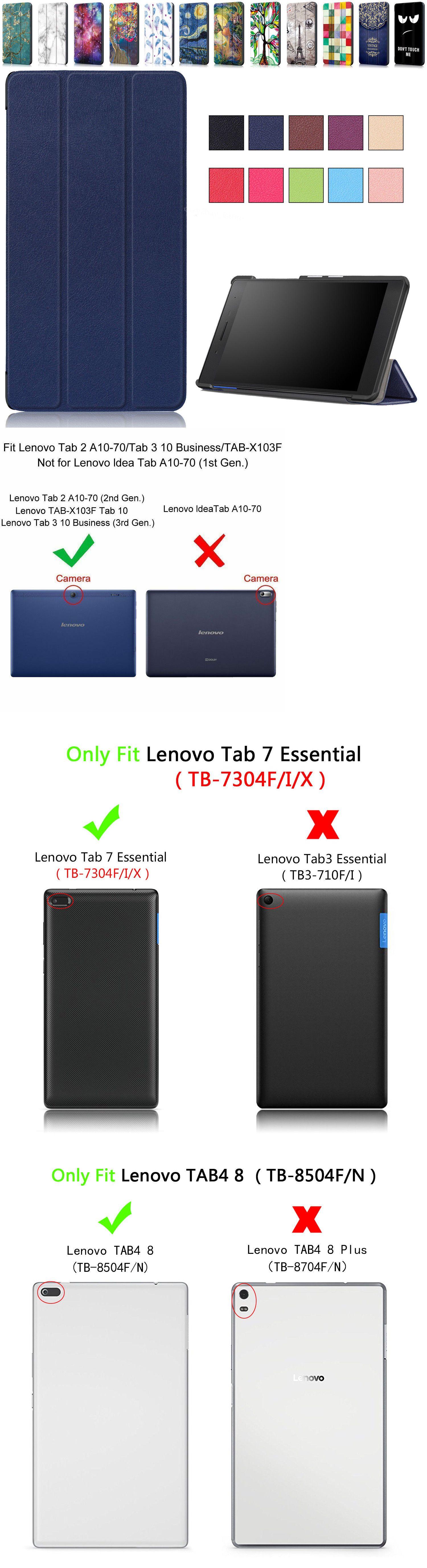 Cases Covers Keyboard Folios 176973: Lenovo Tab2 Tab3 Tab4