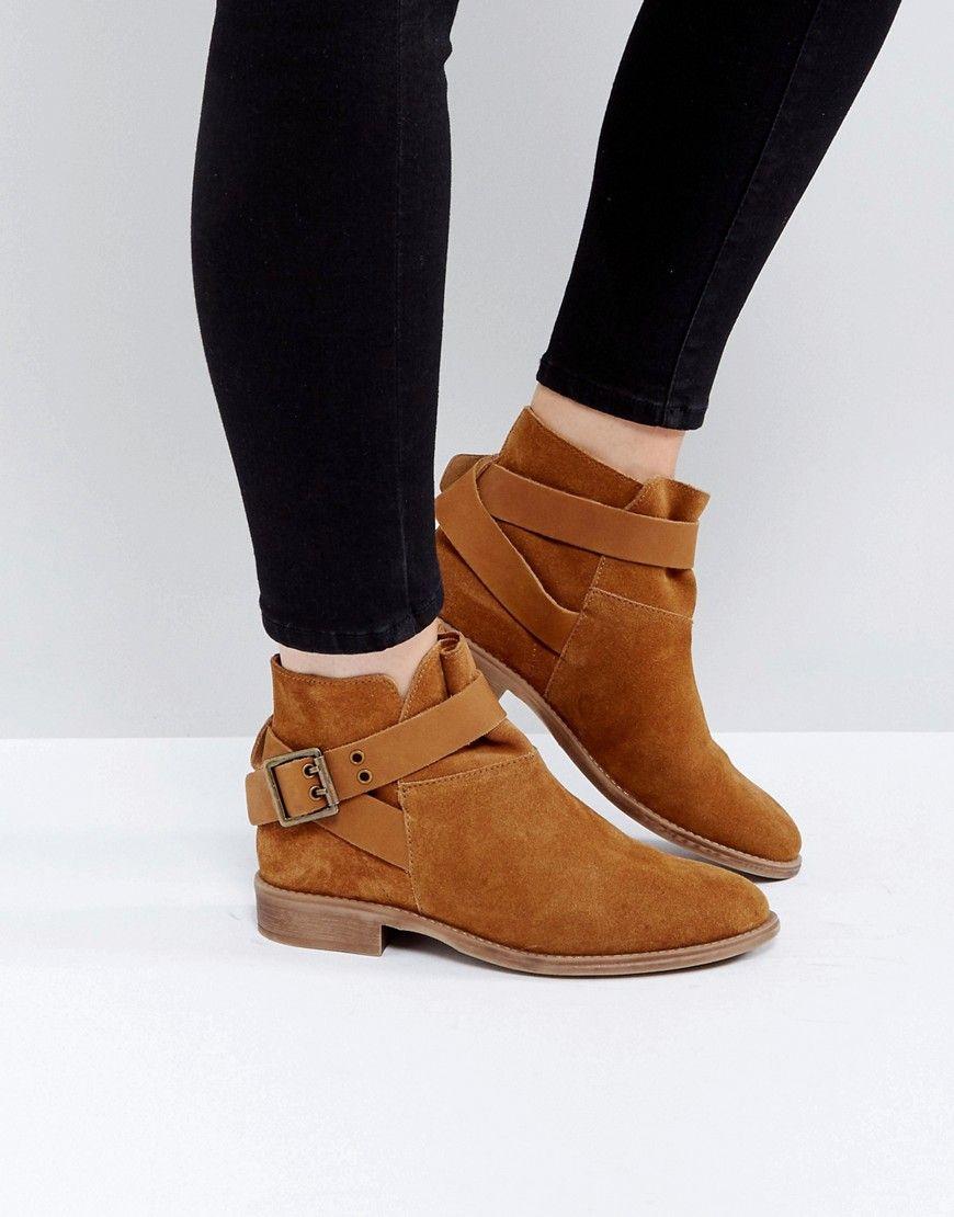 ASOS ALEXUS Suede Ankle Boots Beige | Boots, Black suede